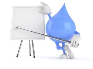 Water Droplet Cartoon Presenting
