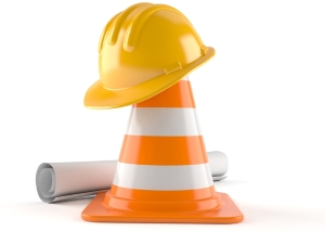 Street Cone with Helmet and Plans